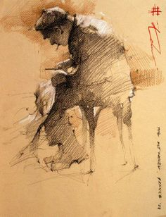 Andre Kohn Love this technique which shows the hand of the artist, seems unfinished. Artus interruptus?