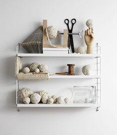String shelving. Styling shelves