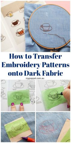 How to Transfer Embroidery Patterns onto Dark Fabric