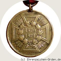 Prussia - UK. German States.  War Merit Medal for Fighters 1870/1871 Donated: May 20, 1871, King and Emperor Wilhelm I. Awarded: 1871