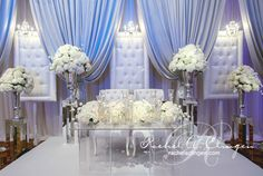glam and white wedding stage amazing Brides with Sass Approved!!