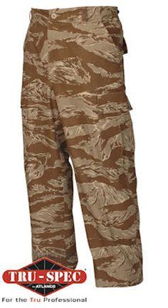 New Bulle Desert Tigerstripe Tactical Combat BDU Shirt Ripstop Cotton