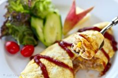 Omurice (Japanese Omelette Rice) | Easy Japanese Recipes at JustOneCookbook.com  Maybe if I follow a recipe, I can finally get the egg part of my omurice to turn out right :P
