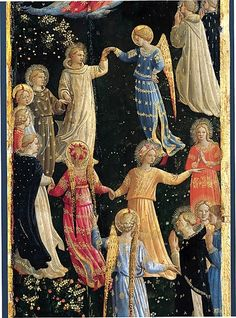 Fra Angelico - Le jugement dernier - Détail du Paradis.