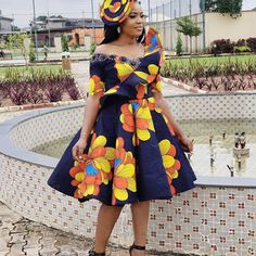 Latest, Trendy Ankara Fashion And Styles Dresses For The Pretty Ladies: 2019 African Fashion Styles! The best Ankara Fashion And Styles Dresses we've African Wear Dresses, Ankara Dress Styles, Trendy Ankara Styles, African Fashion Ankara, Latest African Fashion Dresses, African Print Fashion, African Attire, Africa Fashion, African Prints