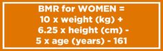 And here's the equation for women: