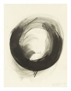 Matsutani (*1937) - Paris Août, Graphit, mit Terpentin gelöst, auf Papier, 1987