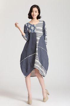 Showmyfashion women cotton linen dress I could make this!