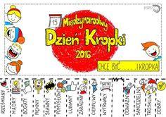 Dzień kropki Kindergarten Art, Preschool, Dot Day, Asd, Child Development, Back To School, Calendar, Doodles, Dots