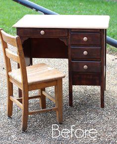 Cambio de imagen antiguo del escritorio del niño | Confesiones de una serie Do-it-artesanos