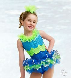 "Curtain Call Costumes® - Under The Sea The perfect little fish to add to your production...your tiny dancers will love the legwarmer ""fins""!"