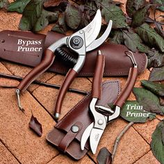 French Gardening Pruners Leather grips make them especially comfortable