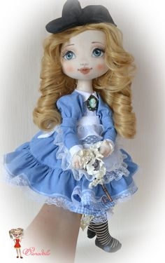 ☆ Alice in Wonderland. Doll made of cloth. Gift for от ElenaDolls