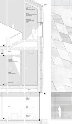Gallery of Museum of Bavarian History Competition Entry / Irlenbusch von Hantelmann Architekten - 12 Museum, Technical Drawing, Presentation Design, Architecture Design, Competition, Floor Plans, Architectural Drawings, Facades, History