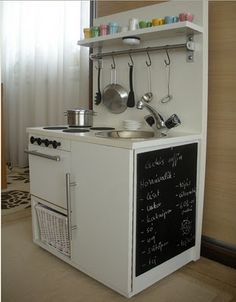 Collection of DIY play kitchens