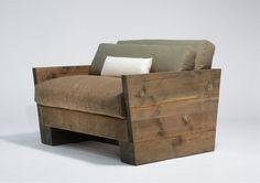 Indoor Rough Luxe Lounge Chair - mohair + solid douglas fir