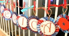 Super cute banner tutorial. Not just for 4th of July Parties.