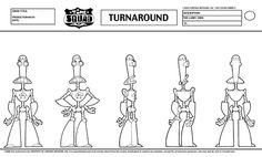 Model Sheets в Твиттере: «Time Squad turnaround model sheet of The Larry 3000…