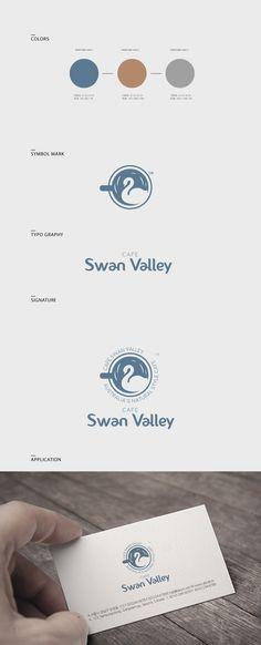 카페스완밸리 / Design by pixelpietop / 커피잔과 스완을 결합하여 디자인. 원형의 심볼마크를 사용하여 엠블럼 활용이 용이하게 표현한 디자인. #로고디자인 #로고 #카페 #cafe #swan #디자인 #디자이너 #라우드소싱 #레퍼런스 #logo #design #포트폴리오 #디자인의뢰 #공모전 #사진 #맞팔 #카페스타그램 #일러스트 #작업 #스완 Cafe Branding, Self Branding, Restaurant Branding, Cosmetic Logo, Brand Manual, Name Card Design, Medical Logo, Typo Logo, Brand Book