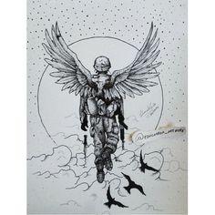 Heart Soldier's. Foi o primeiro desenho que fiz da sessão holocausto.