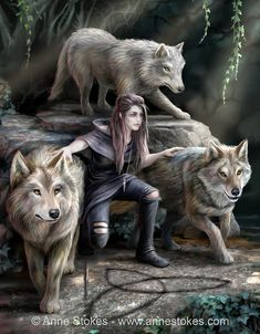 The Power of Three. Puzzle Size: x Art by. The Power of Three. Puzzle Size: x Art by… Eurographics puzzles. The Power of Three. Puzzle Size: x Art by Anne Stokes. Gothic Fantasy Art, Fantasy Wolf, Final Fantasy Art, Beautiful Fantasy Art, Fantasy Artwork, Medieval Fantasy, Fantasy Hair, Character Inspiration, Character Art