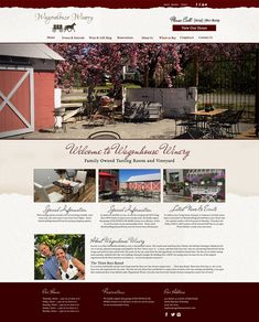 Wagonhouse Winery Website Design - Raven Media, Website Design, Print Design, and Photography Web Design Projects, Tasting Room, Ladies Party, This Is Us, Print Design, Parties, Photography, Wedding, Inspiration