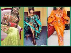 SUPER LATEST MOST BEAUTIFUL STUNNING BAZIN RICHE SENEGALESE STYLES - YouTube Latest African Fashion Dresses, African Print Dresses, African Dress, King Fashion, Fashion Art, Fashion Design, Senegalese Styles, African Attire, Ankara