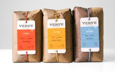 Verve Coffee Roasters packaging designed by Un-studio.