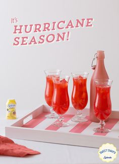 Hurricane Invite your friends over for a New Orleans themed party and serve a staple right from The Big Easy: a cool and refreshing Hurricane made with SPLENDA ZERO™ Liquid Sweetener. [[MORE]]Hurricane Recipe INGREDIENTS: 1 cup ice 3 oz light rum 1...
