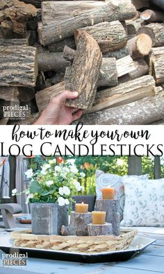 How to Make your Own Log Candlesticks by Prodigal Pieces | www.prodigalpieces.com