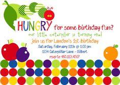 Invite - Hungry Caterpillar Birthday