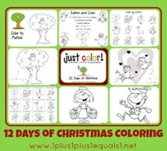 Just Color 12 Days of Christmas s