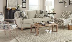 Shop for Craftmaster Sofa, 765850, and other Living Room Sofas at Hickory Furniture Mart in Hickory, NC. Natural wood, in a weathered oak finish, trims the entire base of this beautifully crafted sofa. It's many unique details include French seams, dramatic shaping, and classic brass nail head trim on both the inside and outside of the arms.