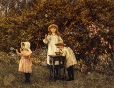 Bubbles - Helen Allingham (1848-1926)