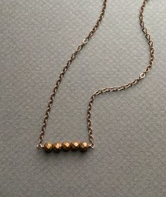 Copper Pyrite Necklace by createyourhappy on Etsy