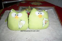 Duo Corujinhas para Cortina - R$ 35,00 Cod. PFCO 027