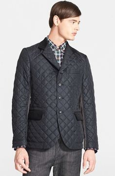 Black Quilted Blazer by Junya Watanabe. Buy for $421 from Nordstrom