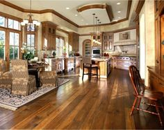Another fatastic kitchen with stained Hickory hardwood floors!