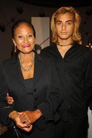 Marlon Brando's grandson Tuki (Cheyenne's son) with his grandmother Tarita.