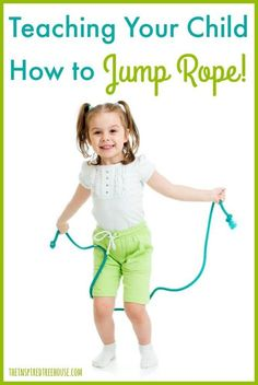 The Inspired Treehouse - Tips from a pediatric physical therapist on how to teach a child to jump rope and games/rhymes to keep them jumping all day long. Pe Activities, Gross Motor Activities, Gross Motor Skills, Infant Activities, Physical Activities, Movement Activities, Summer Activities, Jump Rope Songs, Kids Jump Rope