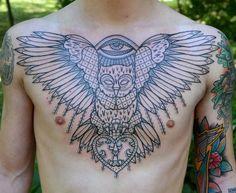 Owl by Aivaras Lee at Totemas tattoos