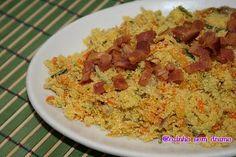 Cozinha sem drama: Farofa de abobrinha e cenoura com bacon crocante