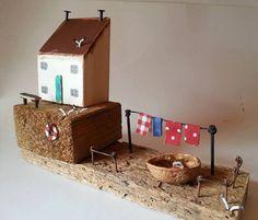 Treibholz Cottage Fischerhauschen Reclaimed Holz Kunst von TTassel