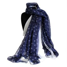 Scarves Wholesale Mini Ancors - Extra Large Scarves Wholesale #Scarves_Wholesale #Wholesale_Scarves #Scarves_Blue #Blue_Scarves_Viscose