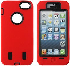"""myLife Rugged Shock Absorbing {Built In Screen Protector} Case for iPhone 6 (6G) 6th Generation Phone by Apple, 4.7"""" Screen Version {Fireball Red and Coal Black """"Striking Two Tone"""" Neo Hybrid Three Piece with Layered Flex Gel SECURE-Fit Armor} myLife Brand Products http://www.amazon.com/dp/B00QJ3PFGQ/ref=cm_sw_r_pi_dp_KIHHub0GVF860"""