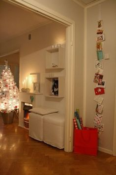 Creative, Clutter-Free Ideas For Displaying Christmas Cards   Apartment Therapy