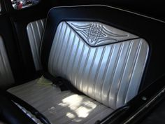hand embroidered pinstriped bench seat
