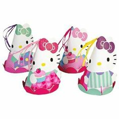 Hello Kitty Party Hats (Set of 8)