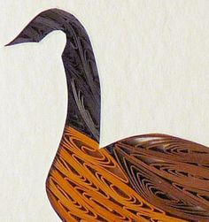 Quilled Canada Goose   QuillingbySandraWhite - Housewares on ArtFire
