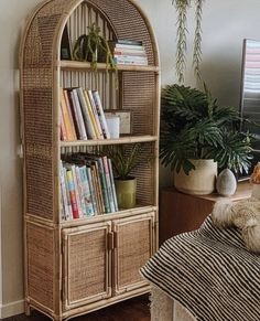 A beautiful rattan hutch perfect for any room of yourr home. Perfect for diplaying books, decor or anything! Our rattan products are designed and handcrafted with love. Rattan Furniture, Furniture Decor, Boho Room, New Room, Decoration, Planer, Boho Decor, Sweet Home, New Homes
